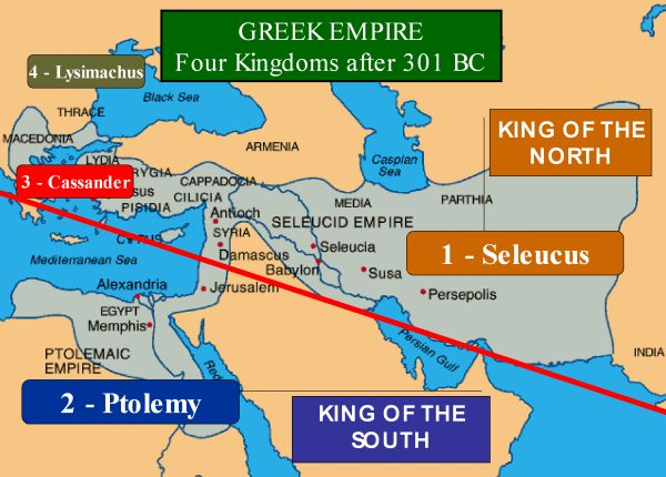 alexander the greats empire divided